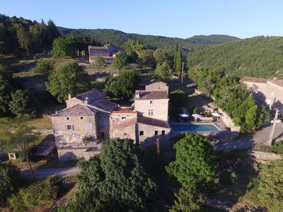 Photo for Mas with pool. Unobstructed view of the Cevennes. Very charming