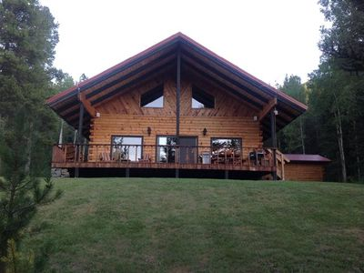 Photo for Secluded Glacier Meadow Log Home  $280.00--$400.00 per night