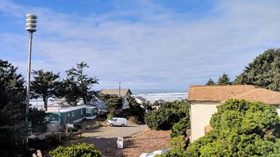 Photo for Elegant home with stunning ocean views & steaming private hot tub. Dogs okay!