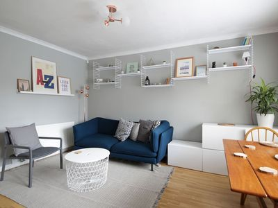 Photo for Spacious ground floor two bed/two bath apartment!