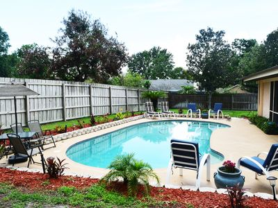 Photo for 3/2 Pool Home Fully Furnished All Utilities Paid Month to Month Rental