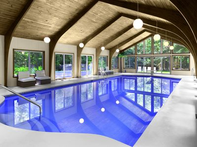 Private indoor pool  Henryville Holiday Estate: Unique Luxury Estate with Private Heated