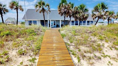 """Photo for Ready To Rent Now! FREE BEACH GEAR! Beachfront, Pool, Private Boardwalk, Wi-Fi. 4BR/4BA """"Blue Dolphin"""""""