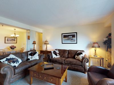Photo for Cozy condo w/ shared pool, hot tub, & more - lovely mountain range views