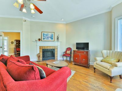 Photo for Spacious, historic dog-friendly townhome close to dining & shopping!