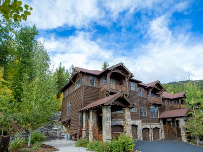 Photo for Stunning Slopeside Ski-in Ski-out townhouse! 4 BD 4.5 BA with private Hot Tub!