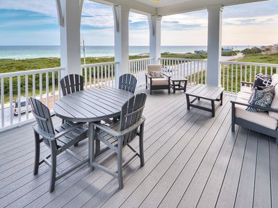 Photo for Inlet Beach GULF FRONT + Pool + FREE BIKES&Beach Service-4 chairs, 2 umbrellas!
