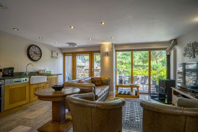 Open plan living with views over the fellside