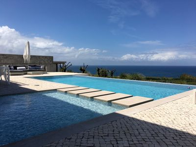 Photo for Ocean front Luxury villa, pool, tennis, golf, surf; Areia Branca, Lourinhã