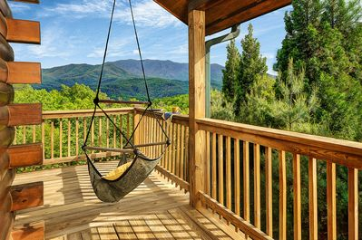 What a welcome! Let the kid in you swing  your cares away in the Hammock Chair!