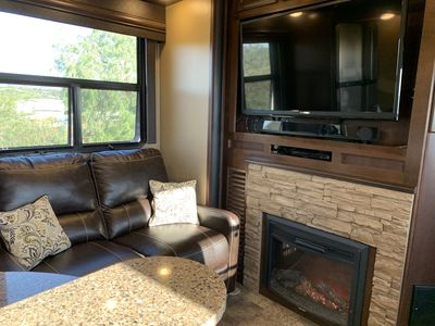 Fire Place and Main Flat Screen TV