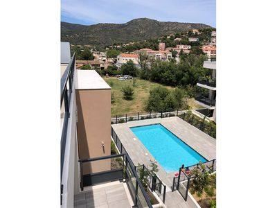 Photo for Lavandou T3 NEW large terrace swimming pool 500m from the beach