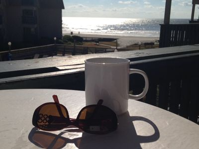 Your morning coffee from the balcony