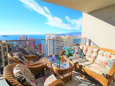 Photo for Mirador del Mediterráneo - Apartment for 6 people in Benidorm