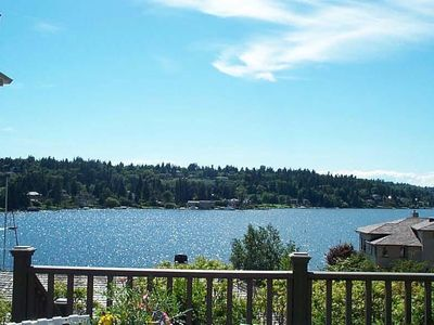 Photo for Waterfront View Cottage w/ Lake WA Water Access—5 Star Rating--Private, Serene