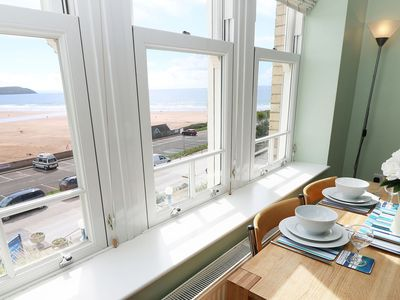 Photo for Lovely Holiday Apartment With Stunning Sea & Beach Views, Close To Village!