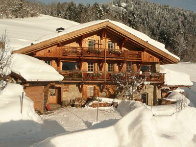 Photo for Les Fermes du Villard in Megève Typical Savoyard chalet 145m², 4 bedrooms / shower room / WC