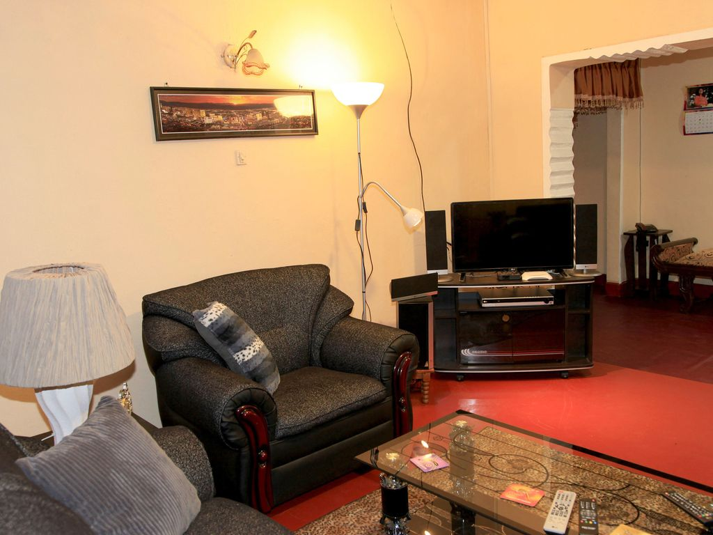 This Angle Shows The TV And Home Theatre System Cosy Living Room