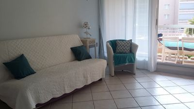 Photo for T2 for 4 people in residence with pool - Hyères Port