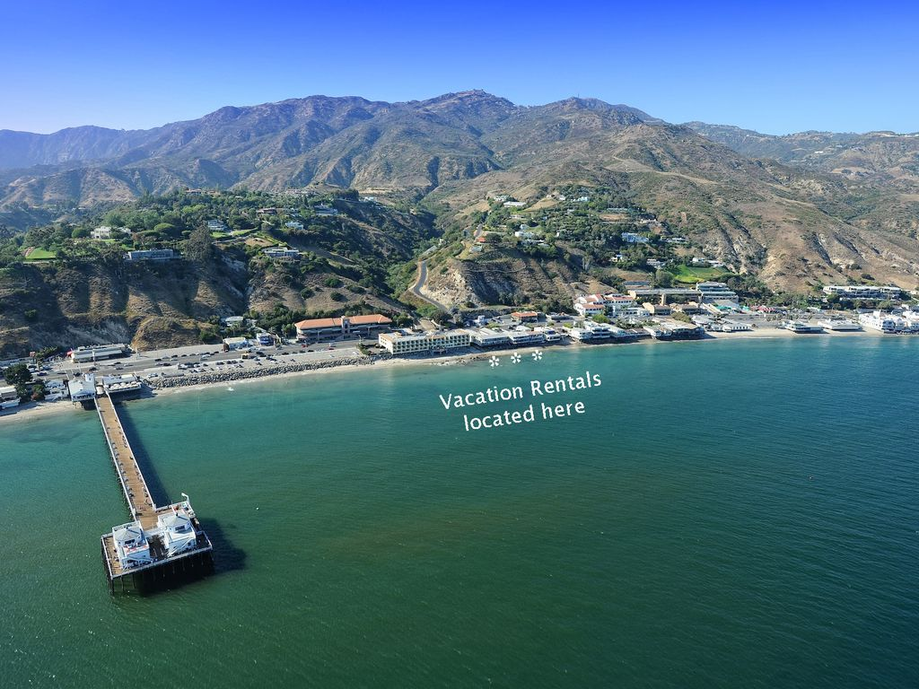 Eastern Malibu Apartment Al Aerial Photo Showing The Location Of Vacation Beachfront