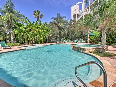 Galveston Escape w/ Balcony & Pool: Walk to Beach!