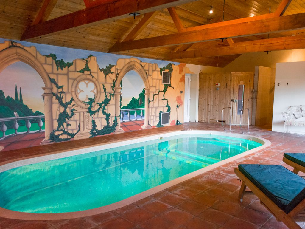 Stunning holiday home with indoor pool sauna gym - Holiday homes with indoor swimming pool ...