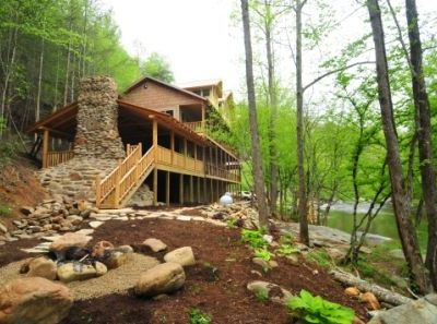 Photo for On RIVER with Swim spa and outside fireplace/ Tunnels inside for the kids