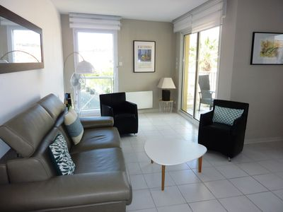 Photo for New in SANARY, APT 3 ***, Hypercentre, quiet, open view, parking, WIFI