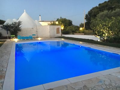 Photo for TRULLO AND VILLA WITH 8/12 BEDS WITH POOL, BARBECUE, LAUNDRY, PARKING