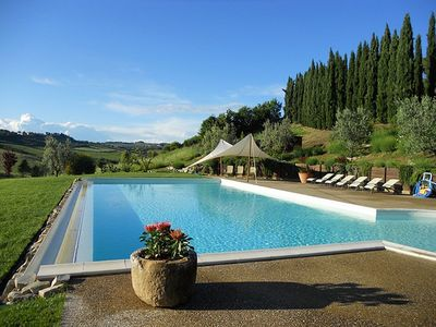 Photo for Villa Lionella Grande: A splendid three-story villa surrounded by meadows and by green hills, with Free WI-FI.