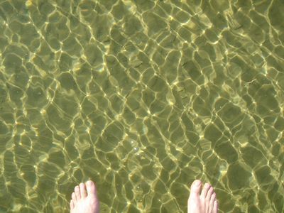 crystal clear water!