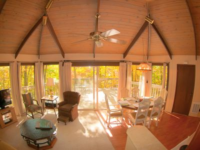 Photo for Double the Fun - Two Homes in One - 2 kitchens, 2 large decks, 2 fireplaces