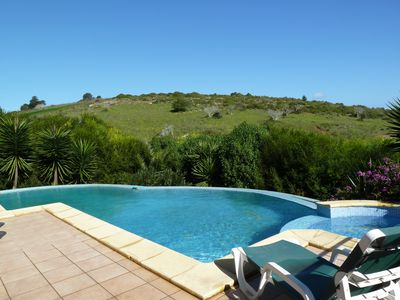 Photo for Stunning villa with salt water pool, up to 10 people, WI-FI, nature reserve
