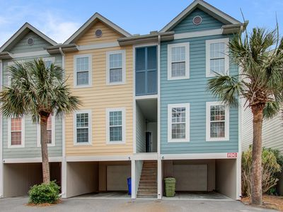 Photo for Three-story villa w/ deck & community pool - walk downtown/to the beach!
