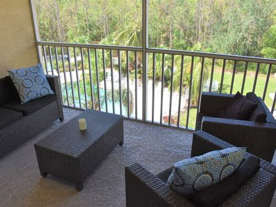 Photo for Pool View / High Ceilings / Lely Resort /  Near Beach & Marco Island / Free Wifi
