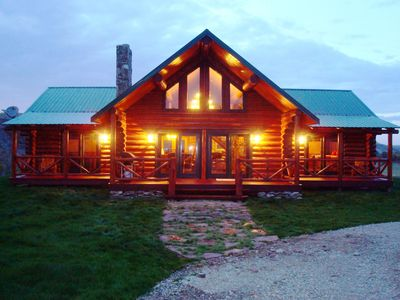 Photo for 3 Bedroom Custom Log Home On Private Montana Ranch