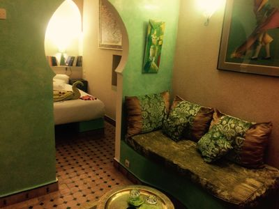 Photo for The well being in the heart of the souks Rooms The Green Suite Riad CharCam