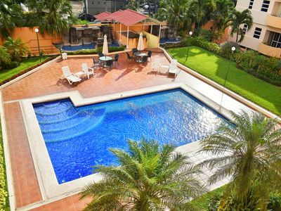 Photo for ✈Santa Elena near US Embassy 3 Brm Cozy Apartment w/Pool&Gym✰24/7Security☆