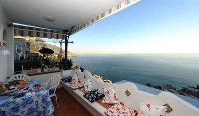 Photo for apartment-sea view-amalfi coast-positano