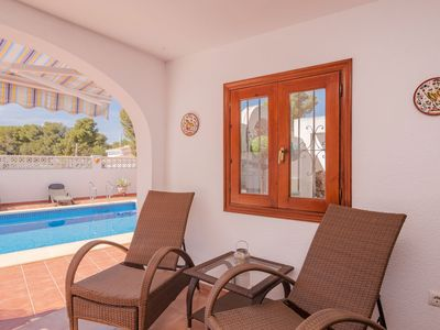 Photo for Beautiful location in Moraira, 8 person villa with private swimming pool and terraces
