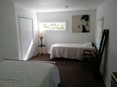 Bedroom with Queen and Twin Beds