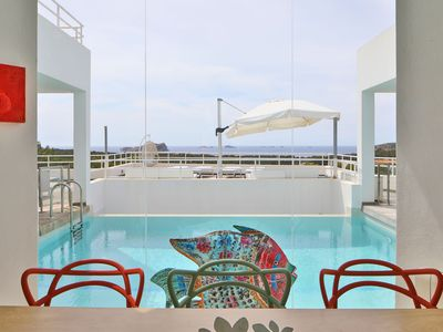 Photo for Luxury Villa with Wi-Fi, Pool, Terraces and Garden with Sea View; Parking Available