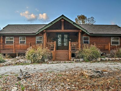 Photo for Huge Log Cabin w/Deck - 5 Mins to Table Rock Lake!