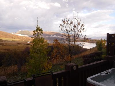 Photo for Snowbasin / Lakeside Condo, Minutes From Skiing And Swimming.  Hot Tub With View