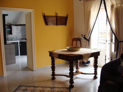 Photo for A classic Sicilian apartment on the Cassaro of Castellammare del Golfo ...