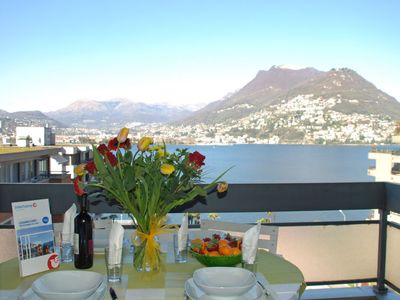 Photo for Apartment App. Paradiso  in Lugano, Ticino - 5 persons, 2 bedrooms