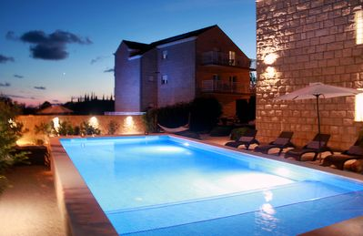 Photo for Large Villa for 10 with private pool, Air con and beautiful garden in Cilipi
