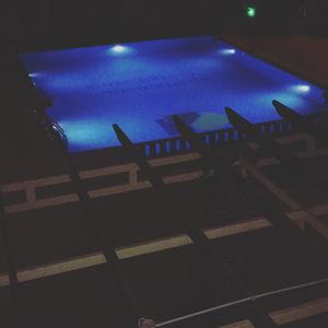 The pool view at night...