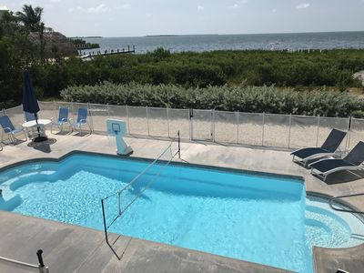Photo for Direct Ocean View! 5 Bed/3 Bath with room for Everyone! Large pool and a Dock.