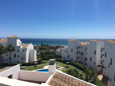 Photo for Apartment sea view / mountains-5 pers. Penthouse / Pool, in Manilva (Andalusia)